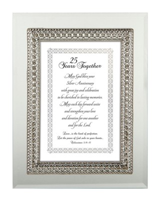 25 Years Together Framed Verse, Colossians 3:14-15, 7X9  -