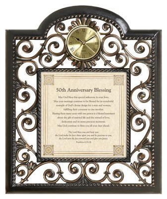 50th Anniversary Blessing Wall Clock  -