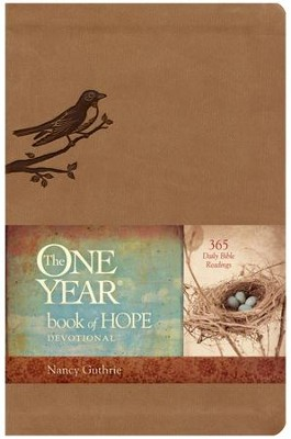 The One Year Book of Hope, Leatherlike  -     By: Nancy Guthrie