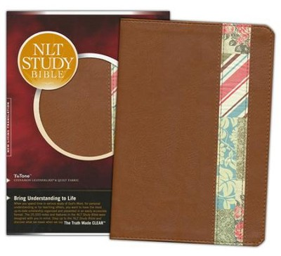 NLT Study Bible, TuTone Cinnamon and Quilt Imitation Leather  -