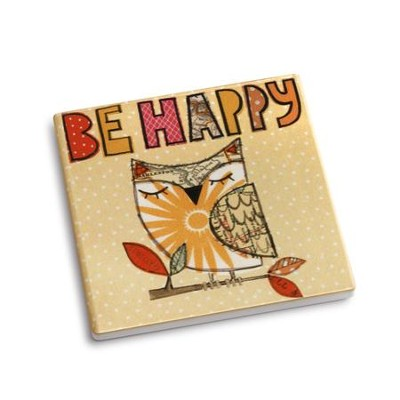 Be Happy Coaster and Greeting Card  -