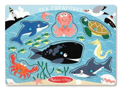 Sea Creatures Peg Puzzle  -