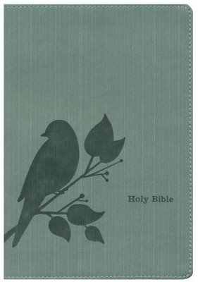 NLT Slimline Reference Bible, Leatherlike Teal Birdsong  -     By: Tyndale
