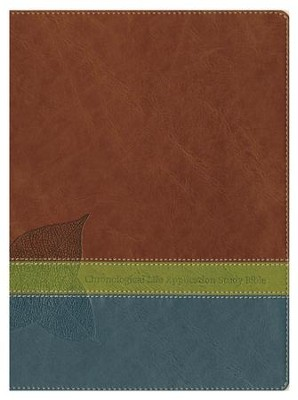 NLT Chronological Life Application Study Bible, Leatherlike Brown/Green/Dark Teal  -