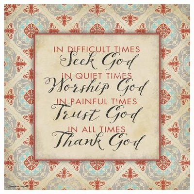 Seek, Worship, Trust, Thank God, Trivet  -