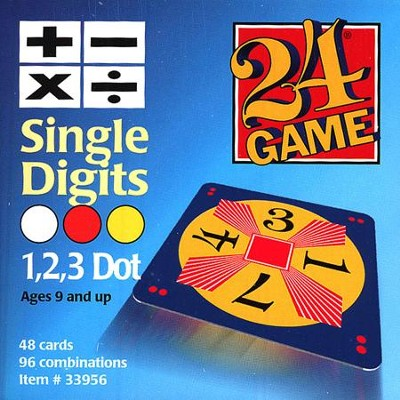 24 Game: Single Digits (48 Cards)  -