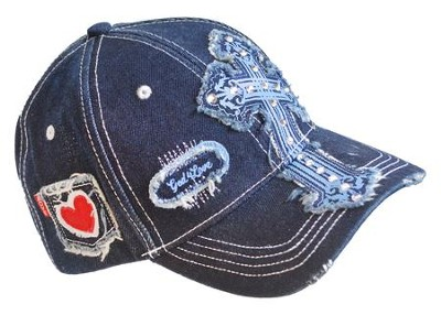 Denim Cross, Heart Cap  -