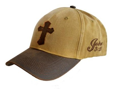 Canvas Cross, John 3:16 Cap, Tan  -