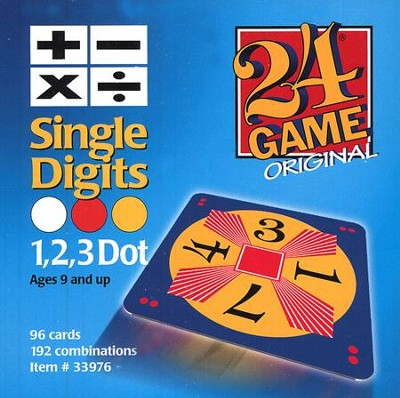 24 Game: Single Digits (96 Cards)  -