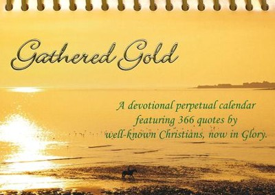 Gathered Gold - Desk Calendar  -