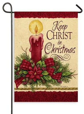 Keep Christ in Christmas, Candle, Flag, Small  -     By: Tina Wenke