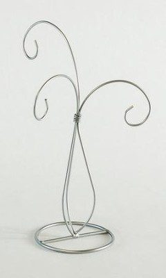 Ornament Stand, 3 Arms, Silver  -