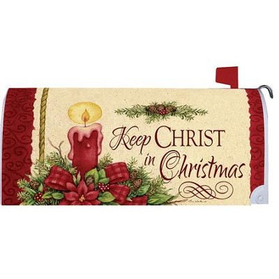 keep christ in christmas candle mailbox cover by tina wenke