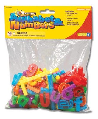 Magnetic Alphabet & Numbers   -