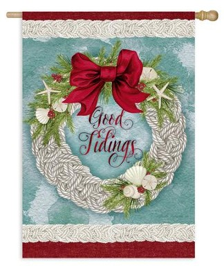 Good Tidings, Flag, Large  -     By: Nicole Tamarin