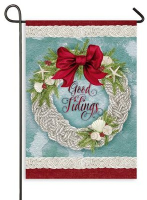 Good Tidings, Flag, Small  -     By: Nicole Tamarin
