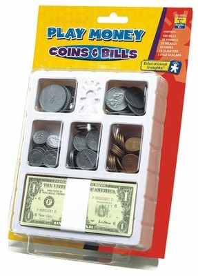Play Money - Coins & Bills Tray   -