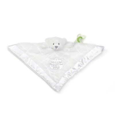 Cherish Bear Blanket with Pacifier Holder  -