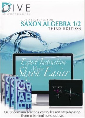 Saxon Math Algebra 1/2 3rd Edition DIVE CD-Rom  -