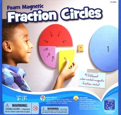 Foam Magnetic Fraction Circles   -