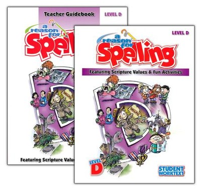 A Reason for Spelling, Level D, Teacher Guidebook and Student Worktext  -