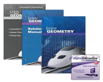 Saxon Geometry Kit & DIVE CD-Rom, 1st Edition   -