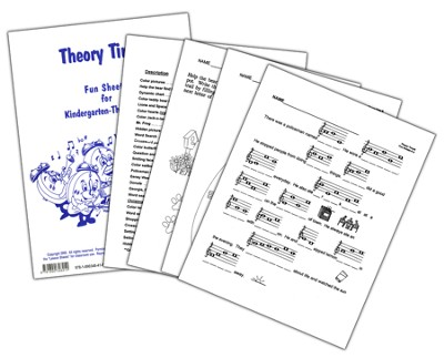 Theory Time Fun Sheets for Kindergarten - Third Grade  -