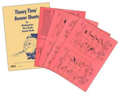 Theory Time Answer Sheets for Kindergarten, 1st & 2nd Grade  -