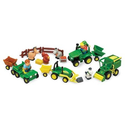 John Deere, Fun on the Farm Playset, 20 Pieces  -