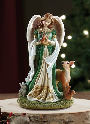 Woodland Angel Figurine  -     By: Michael Adams