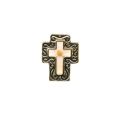 Mustard Seed Cross Lapel Pin  -