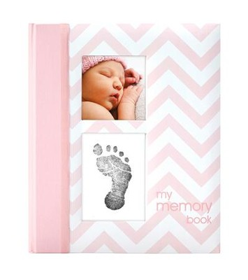 Chevron Baby Book, Pink  -