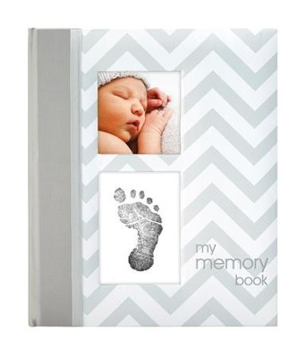 Chevron Baby Book, Gray  -