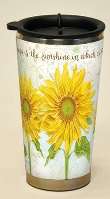 Kindness Is the Sunshine, Virtue Grows Travel Mug  -     By: Jane Shasky
