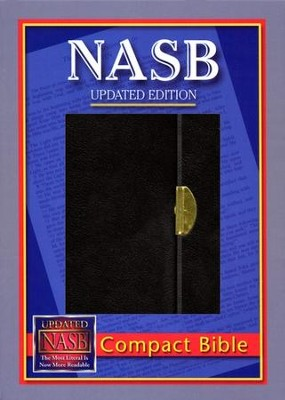 NASB Compact Bible, Bonded Leather Black  -