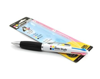 Bible Study Pen (four color inks) Carded   -