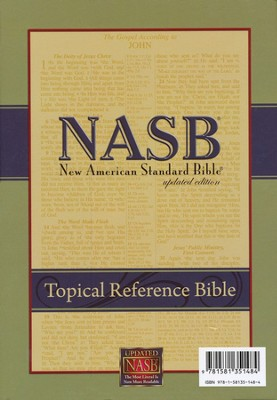 NASB Topical Reference Bible, Bonded Leather , Black  -