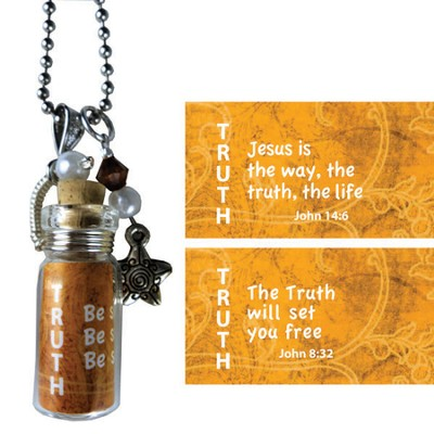 Truth, Jesus Is the Way, Message In A Bottle Necklace  -