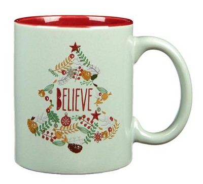 Believe Wreath Mug  -