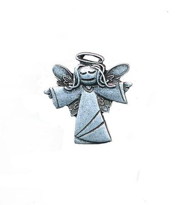 Guardian Angel Lapel Pin (Girl), Psalm 91:11   -