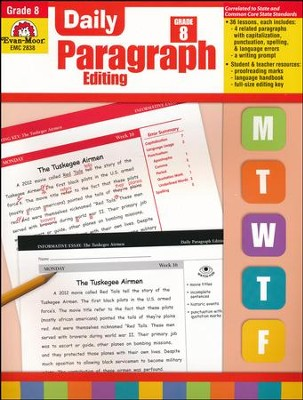 Daily paragraph editing grade 8 9781609638337 christianbook daily paragraph editing grade 8 fandeluxe Choice Image