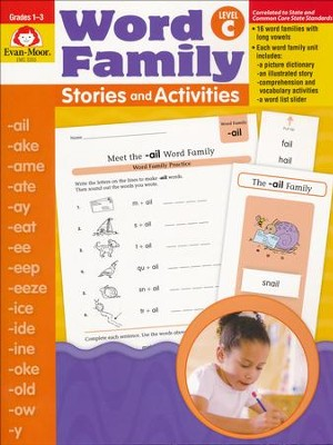 Word Family Stories and Activities, Level C   -