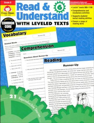 Read & Understand with Leveled Texts, Grades 6 and Up  -
