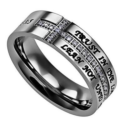 Trust in the Lord, Crescent Ring, Size 9   -