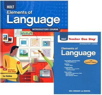 Holt Elements of Language Grade 6 Homeschool Package   -