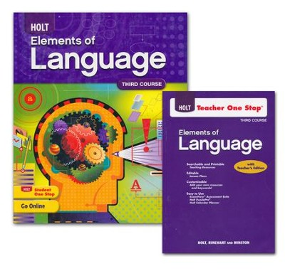 Holt Elements of Language Grade 9 Homeschool Package      -