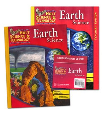 Holt Science & Technology: Earth Science Homeschool  Package with Teacher's Edition  -