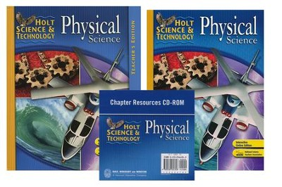 Holt Science & Technology: Physical Science Homeschool Package with Teacher's Edition  -