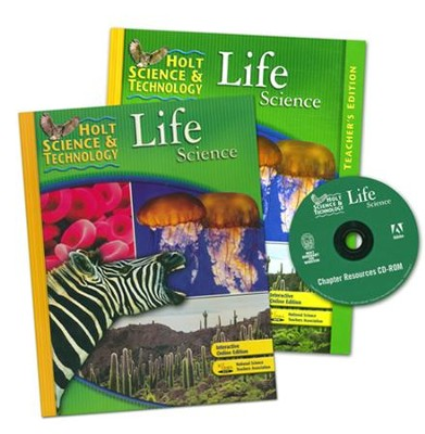 Holt Science & Technology: Life Science Homeschool Package with Teacher's Edition  -