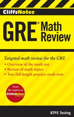 CliffsNotes GRE Math Review  -